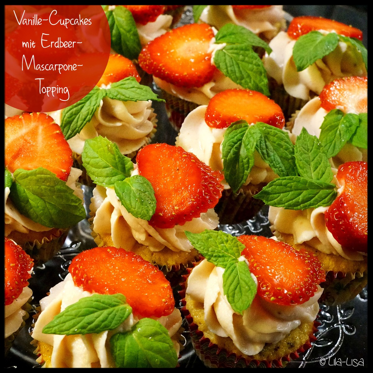 Happy Berry: Zweierlei Cupcakes mit Erdbeer-Mascarpone-Topping