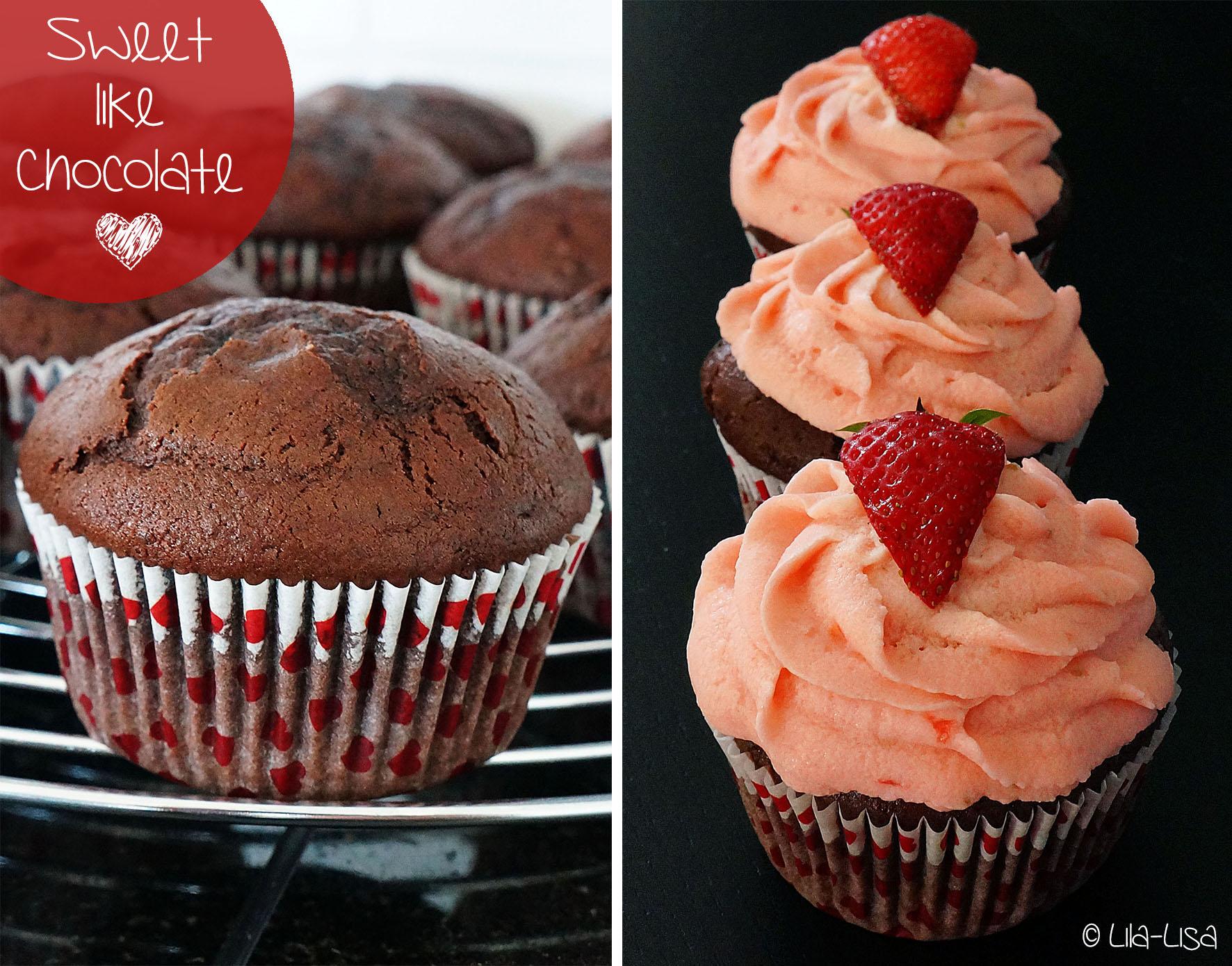 happy berry schoko erdbeer cupcakes lila lisa. Black Bedroom Furniture Sets. Home Design Ideas