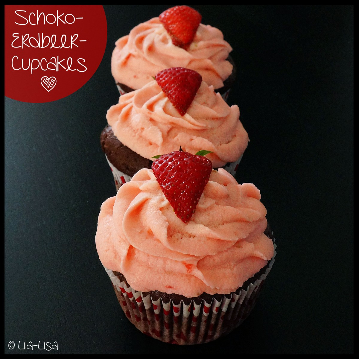Happy Berry: Schoko-Erdbeer-Cupcakes